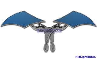 Chrome Roque Mirrors Set w/ Stem Parts 4 Harley Custom