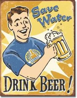 Save Water Drink Beer Retro Tin Sign Metal Poster