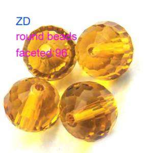 M7810 20pcs 10mm Faceted Crystal Gems Round Loose Beads