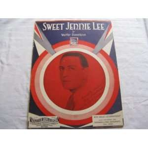 SWEET JENNIE LEE WALTER DONALDSON 1930 SHEET MUSIC FOLDER