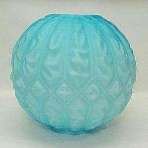 Blue Gone with the Wind Glass Ball Oil Lamp Shade Globe Kerosene