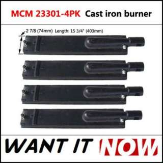 Costco Replacement Cast Iron Gas Grill Burner 23301 4pk