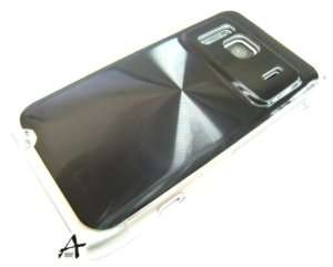 Black Metallic Hard Cover Case +Protector for Nokia N8
