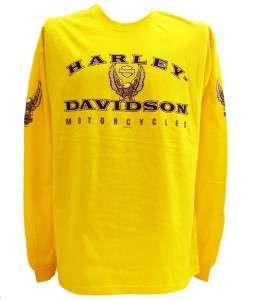 Harley Davidson Las Vegas Dealer Long Sleeve Tee T Shirt YELLOW 2XL