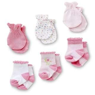 Gerber   3 Pack Mittens & Socks Set   Newborn Girls