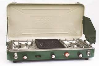 TEXSPORT Dual Burner Propane Camping Stove w/Grill 049794142282