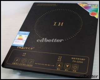 Induction Cooktop Cooker Burner Crystal Panel 2200W NEW