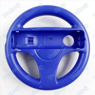 New Steering Wheel for Wii Mario Kart Racing Game Blue