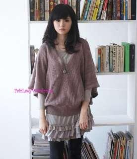 Japan Layer Tiered Ruffle Lace Hem Knit Dress Gray