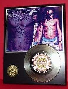 LIL WAYNE GOLD 45 RECORD LIMITED EDITION DISPLAY