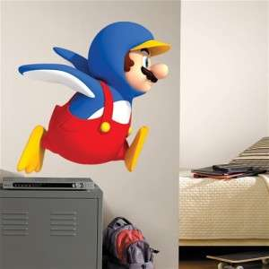 New GIANT SUPER MARIO BROTHERS Wii PENGUIN WALL DECAL Room Stickers