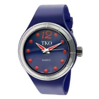 TKO ORLOGI Womens TK531 NV Candy Collection Fun Colorful Rubber Watch