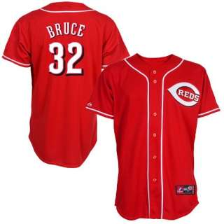 Reds #32 Jay Bruce Red Replica Baseball Jersey 726652311874