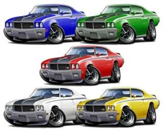 Buick GSX Muscle Car Cartoon Tshirt FREE