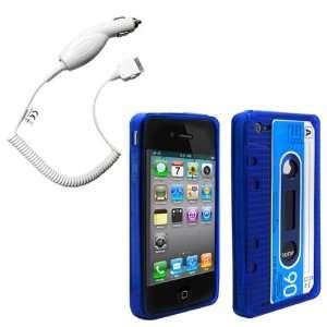 Cbus Wireless Dark Blue/Light Blue Flex Gel Cassette Tape Case / Skin