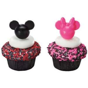 Mickey and Minnie Mouse Pink and Black Cupcake Picks   12