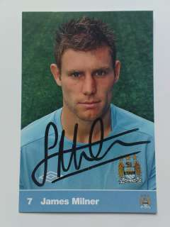 RARE Official James Milner Manchester City Man City Signed Club Card