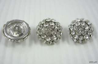 Sparkling Crystal Rhinestone Silver Buttons #S352
