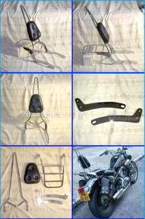 Yamaha Virago XV125 XV250 24 Backrest Sissy Bar Set