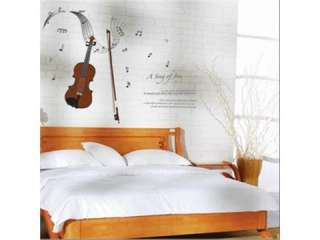 WALL DECAL DECO DECOR MURAL STICKER musical note violin