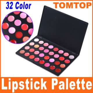 32 Color Professional Cosmetic Lip Lipsticks Gloss Palette Makeup Set