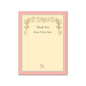 Thank You Cards   Vintage Baby Girl Thank You Cards By